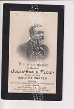 Oud doodsprentje DP J.E. Floor De Preter Notaris Krombeke Roesbrugge. 1906