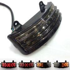 Smoke Tri-Bar Fender LED Tail Brake Signal Light for Harley Street Glide FLHX