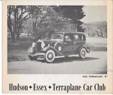 "Vintage Hudson - 1933 Hudson Terraplane 8  HET Car Club - 9 3/4"" by 8 1/4"" Print"