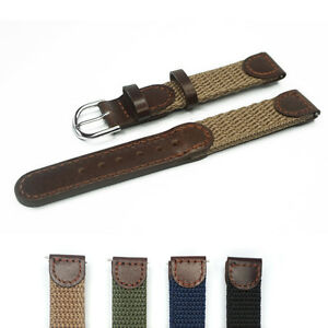 16mm 18mm 20mm 22mm Genuine Leather Nylon Watch Strap Watch Band Fit Swiss Army