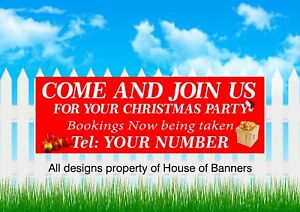 Christmas Party Night Come and  join us for your party PVC banner 6024
