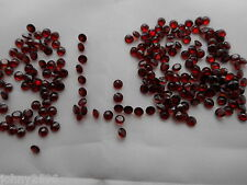 4mm garnets round cut 2 stones for £1.30p