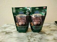 Blue Wilderness Trail Treats Lot of 2 Duck Grain Free Biscuits  10 oz each