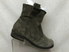 Sole Society Green Suede Ankle Fashion Boots Bootie Size 7.5