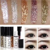 Metallic Shiny Eyeshadow Glitter Liquid Eyeliner Pro Waterproof Makeup Cosmetic