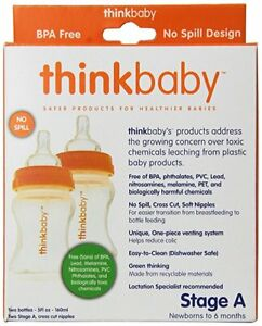 Thinkbaby Stage A Baby Bottle (0-6 Months) - Twin Pack - 5 Oz