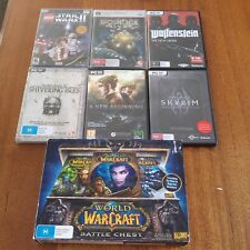 7 X  Mixed PC Games Bulk (Skyrim, WOW, Bioshock, Lego Star Wars)