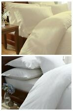 Balmoral Broderie Anglaise Dentelle couette couverture ensemble de lit, blanc/cr...