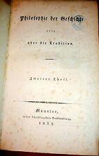 1834 Molitor Theosophy & Jewish Kabbalah, Philosophie der Geschichte German1stEd