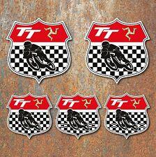 ISLA DE MAN Escudo TT Juego pegatinas clásico motocicleta para deportes motor