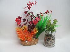 2 x Weighted Decorative Aquarium Plants Fish Tank Plant