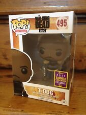 FUNKO POP! The Walking Dead T-DOG #495 Convention Exclusive Vinyl Figure NEW