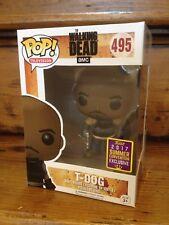 FUNKO POP! The Walking Dead T-Dog #495 Convención Exclusiva Figura de Vinilo Nuevo