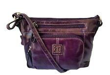 Giani Bernini Handbag, Glazed Leather Promo Crossbody Bag Handbag, Eggplant