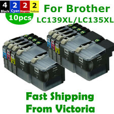 10x LC 139XL 135XL Ink Cartridges for Brother MFC-J6520DW MFC-J6720DW MFC-J6920