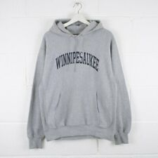 Vintage MV SPORT Grey Winnepesaukee College Hoodie Mens Size Medium