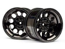 HPI Bullet St Wheels Black Chrome (pr) #101252