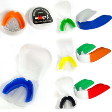 New Boxing Gel Junior Senior Gum Shield Kids Mouth Guard Teeth Protector