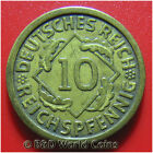 GERMANY WEIMAR 1925-A 10 REICHSPFENNIG BERLIN MINT GERMAN WORLD COIN 4gr 21mm