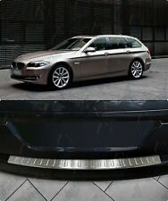 BMW 5ER F11 TOURING 2010-2016 ChromeRear Bumper Protector Scratch Guard S.Steel