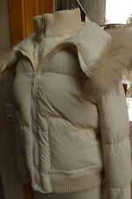 BCBG MAX AZRIA Down Puffer Fur Shawl Collar bomber Jacket L