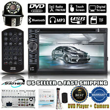 "2Din 6.2"" HD Car Stereo DVD Player Bluetooth Auto Radio + Backup Parking Camera"