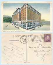 Aerial View Mount Royal Hotel  Montreal Quebec Canada Postcard