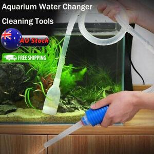 New Aquarium Fish Tank Cleaner Syphon Vacuum Water Changer Pump Siphon Hose AU
