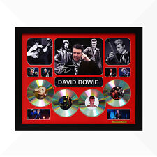 David Bowie Signed & Framed Memorabilia - 4CD - Red - Limited Edition