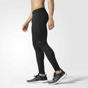 ADIDAS MENS SUPERNOVA LONG RUNNING ZIP TRAINING TIGHTS LEGGINGS BLACK S M XL