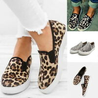 Women Casual Comfort Canvas Shoes Plimsolls Flats Slip On Loafers Sneakers Pump