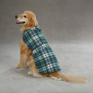 new Casual Canine Green Plaid Fleece Barn Coat  XLarge XL