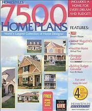 7500 Home Plans XXL By Homestyles  CD-ROM