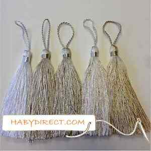 SMALL CRAFT AND DECORATIVE TASSELS (10CM) IN 35 COLS BEST QUALITY (Pk of 5 or10)