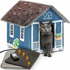 New listing Petyella Heated cat Houses for Outdoor Cats in Winter - Heated Outdoor cat House