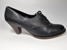 Office London black leather mid heel shoes uk 8 eu 41