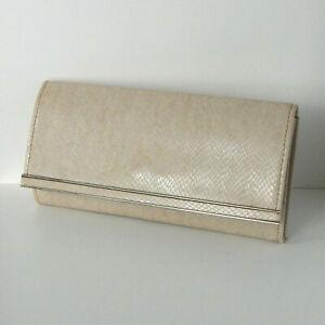 VINTAGE Snake Skin Leather Structured Clutch Bag