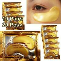 10Pair Crystal Collagen 24K Gold Under Eye Anti Aging Wrinkle Gel Pad Face Patch