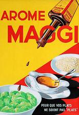 L'ARTE Annuncio MAGGI Salsa Condimento Cibo CAFE RESTURANT cucina POSTER stampati