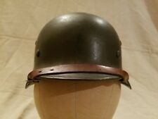 WWII Original German M35 Helmet And Hardware With Repro Liner