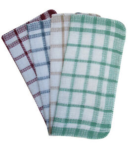 3 Pack Cotton Dish Cloth Pot Drying Cleaning Kitchen Towels Cloths