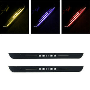 Rechargeable Pedal Light Car Door Sill Scuff Plate Protector Guard Flowing Lamps