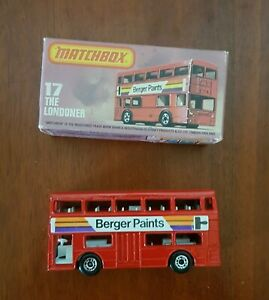 """MATCHBOX SUPERFAST MODEL MB-17 LONDON BUS """"BERGER PAINTS"""" never been out of Box"""
