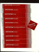 NICE SET OF 11 CLINCHFIELD PITTSTON EASTERN COAL CO. COAL MINING STICKER #944