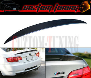 PERFORMANCE STYLE CARBON FIBER TRUNK LID SPOILER FOR BMW E92 335i M3 2DR COUPE
