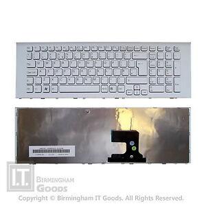 Sony Vaio VPC-EJ VPCEJ1 VPCEJ2 White Frame UK Layout Keyboard 148972511