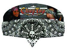 Chop Top Solar Skull Black w/Studs: Doo Rag Casual Head Wrap Bandana New