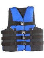 Adult Life Jacket Deluxe USCG 4-Buckle Dual Sized PFD Ski Vest S M L XL 2XL 3XL