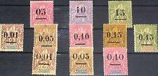 Madagascar 1902 49-51 52-56 I-II 48-55 navigation & commerce surcharge OVP MLH