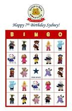Build-a-Bear Birthday Party Game Bingo Cards